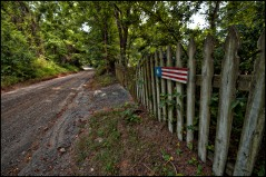 Paxson Road outside of the Village of Airmont in Western Loudoun County Virginia. Most Western Loudoun's historic gravel roads predate America and are important heritage resources that represent the migration, settlement and travel patterns of the County's early populations. (Photo by Douglas Graham/WLP)